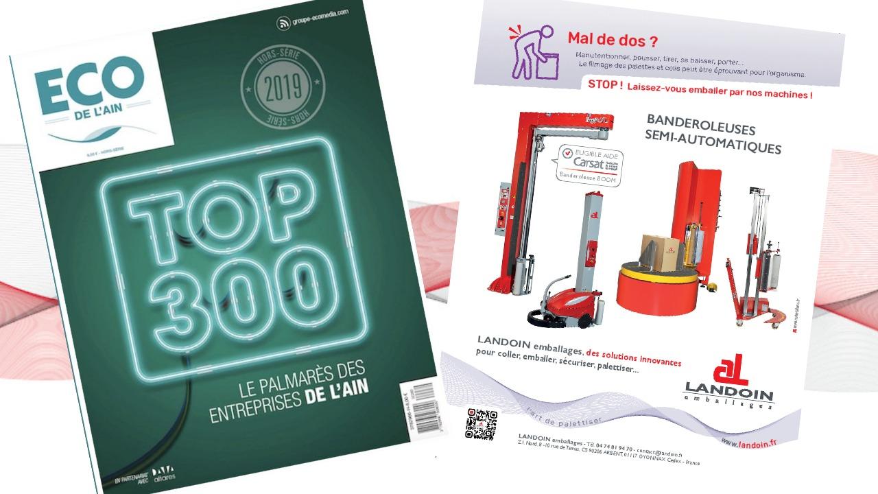LANDOIN emballages dans le TOP300 des entreprises de l'Ain