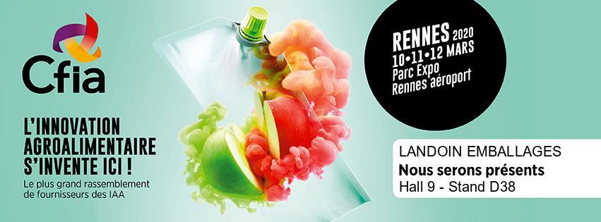 Logo salon alimentaire CFIA Rennes 2020