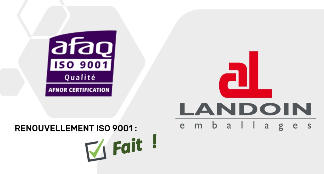 Certification ISO 9001 renouvelée